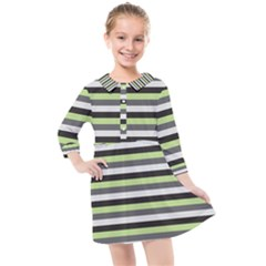 Stripey 8 Kids  Quarter Sleeve Shirt Dress by anthromahe