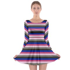 Stripey 9 Long Sleeve Skater Dress by anthromahe