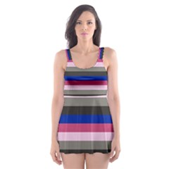 Stripey 9 Skater Dress Swimsuit by anthromahe