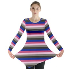Stripey 9 Long Sleeve Tunic  by anthromahe