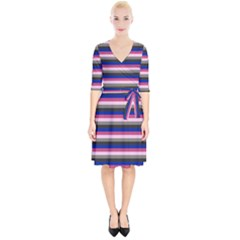 Stripey 9 Wrap Up Cocktail Dress by anthromahe