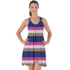 Stripey 9 Show Some Back Chiffon Dress by anthromahe
