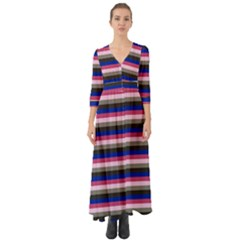 Stripey 9 Button Up Boho Maxi Dress by anthromahe