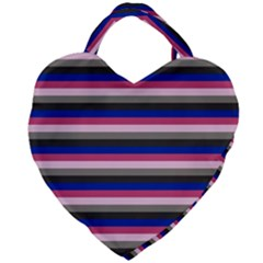 Stripey 9 Giant Heart Shaped Tote by anthromahe