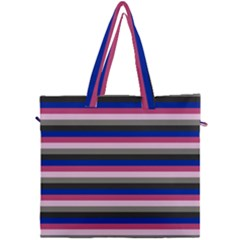 Stripey 9 Canvas Travel Bag by anthromahe