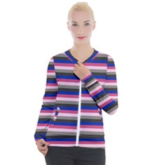 Stripey 9 Casual Zip Up Jacket by anthromahe