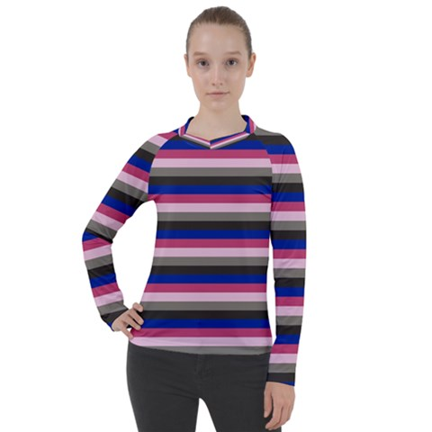 Stripey 9 Women s Pique Long Sleeve Tee by anthromahe