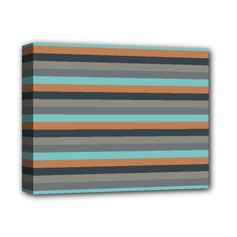 Stripey 10 Deluxe Canvas 14  X 11  (stretched) by anthromahe