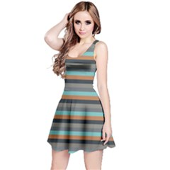 Stripey 10 Reversible Sleeveless Dress by anthromahe