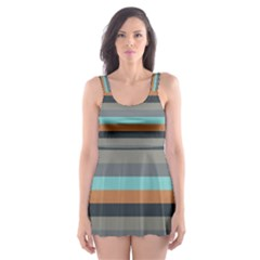Stripey 10 Skater Dress Swimsuit by anthromahe
