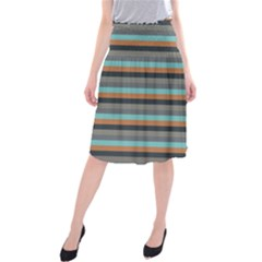 Stripey 10 Midi Beach Skirt by anthromahe