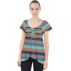 Stripey 10 Lace Front Dolly Top