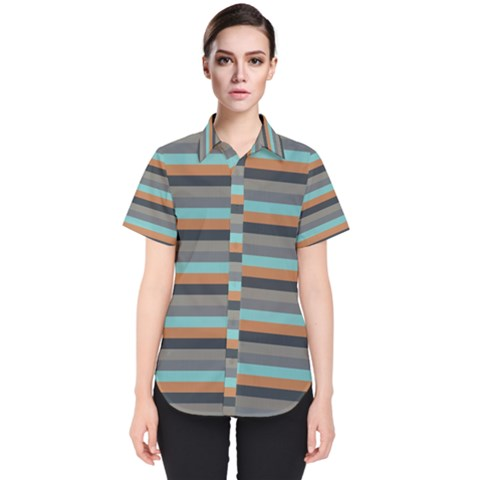 Stripey 10 Women s Short Sleeve Shirt by anthromahe
