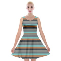 Stripey 10 Velvet Skater Dress by anthromahe
