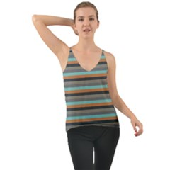 Stripey 10 Chiffon Cami by anthromahe