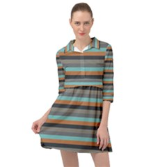 Stripey 10 Mini Skater Shirt Dress