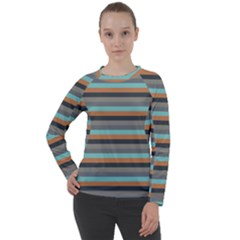 Stripey 10 Women s Long Sleeve Raglan Tee