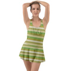 Stripey 11 Ruffle Top Dress Swimsuit by anthromahe