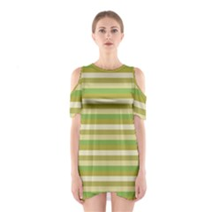 Stripey 11 Shoulder Cutout One Piece Dress by anthromahe