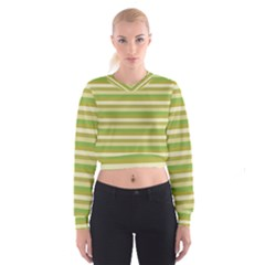 Stripey 11 Cropped Sweatshirt by anthromahe