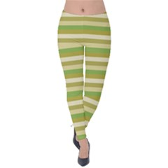 Stripey 11 Velvet Leggings by anthromahe