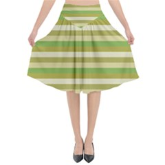 Stripey 11 Flared Midi Skirt by anthromahe