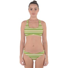 Stripey 11 Cross Back Hipster Bikini Set by anthromahe