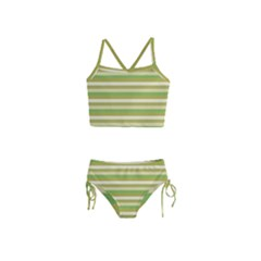 Stripey 11 Girls  Tankini Swimsuit by anthromahe
