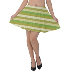 Stripey 11 Velvet Skater Skirt by anthromahe