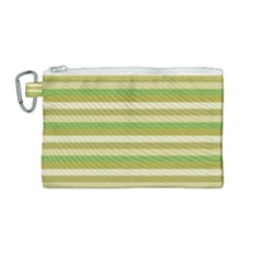 Stripey 11 Canvas Cosmetic Bag (medium) by anthromahe