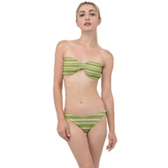 Stripey 11 Classic Bandeau Bikini Set by anthromahe