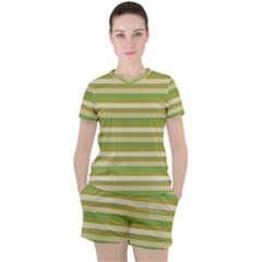 Stripey 11 Women s Tee And Shorts Set