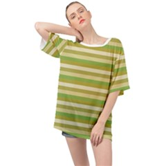 Stripey 11 Oversized Chiffon Top by anthromahe