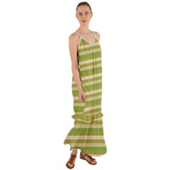 Stripey 11 Cami Maxi Ruffle Chiffon Dress by anthromahe