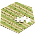 Stripey 11 Wooden Puzzle Hexagon View2