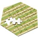 Stripey 11 Wooden Puzzle Hexagon View3