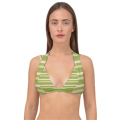 Stripey 11 Double Strap Halter Bikini Top by anthromahe