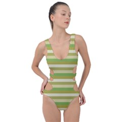 Stripey 11 Side Cut Out Swimsuit