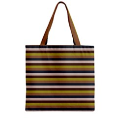 Stripey 12 Zipper Grocery Tote Bag by anthromahe