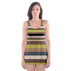 Stripey 12 Skater Dress Swimsuit by anthromahe