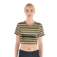 Stripey 12 Cotton Crop Top by anthromahe