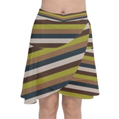 Stripey 12 Chiffon Wrap Front Skirt