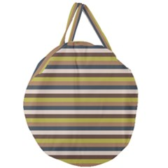 Stripey 12 Giant Round Zipper Tote by anthromahe