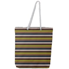 Stripey 12 Full Print Rope Handle Tote (large) by anthromahe