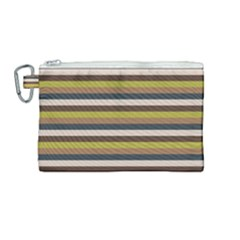Stripey 12 Canvas Cosmetic Bag (medium) by anthromahe