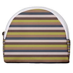 Stripey 12 Horseshoe Style Canvas Pouch by anthromahe