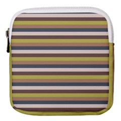 Stripey 12 Mini Square Pouch by anthromahe