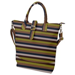 Stripey 12 Buckle Top Tote Bag by anthromahe