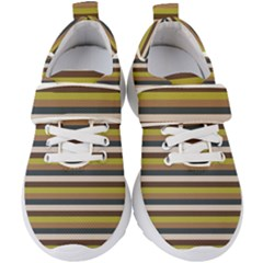 Stripey 12 Kids  Velcro Strap Shoes by anthromahe