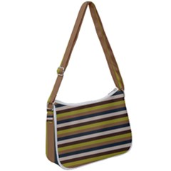 Stripey 12 Zip Up Shoulder Bag by anthromahe